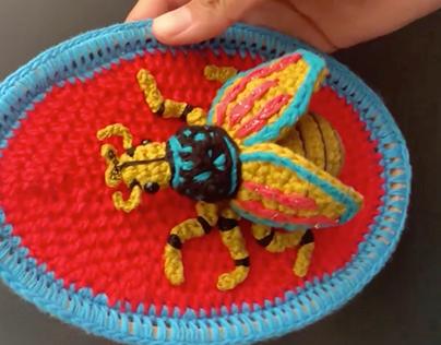 Mini esculturas de insectos
