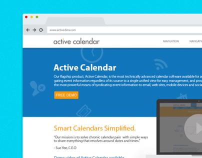 Active Calendar Website Design
