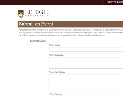 Lehigh University Open Entry Form