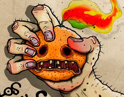 Los Ginchos. (CD cover & logo)