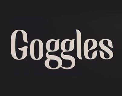Goggles - Font