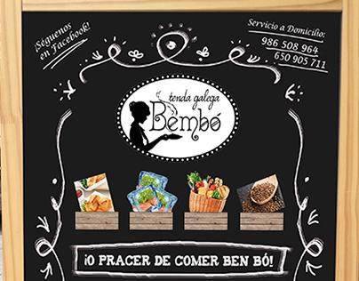 Diseño/Ilustración para Tenda Galega Bembó
