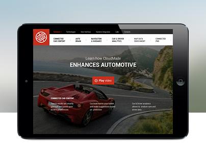 CloudMade Automotive solution