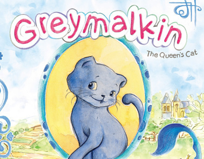 Greymalkin the Queen's cat  and the baby dragon