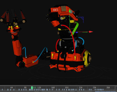 xpresso rigging Mechanical Robot