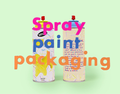"""Paint"" Spray Paint Packaging"