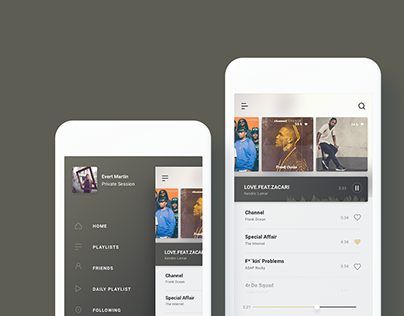 UI Design - Music app