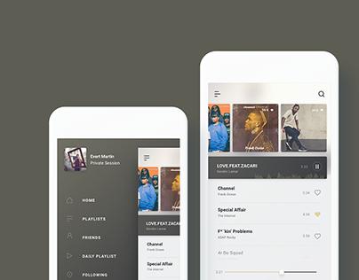 UI Design - Music app