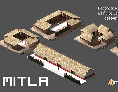 Mitla 3D - Houses