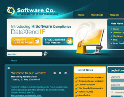 New Technology Software Company Joomla Template