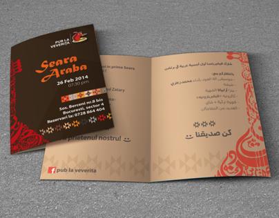 """Arabian Evening"" invitation brochure"