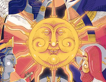 Solar Deities Poster