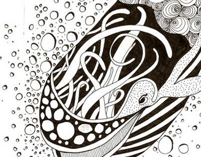 Ink Pen Animal Drawings