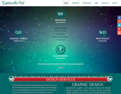 Eyetooth-Art website design