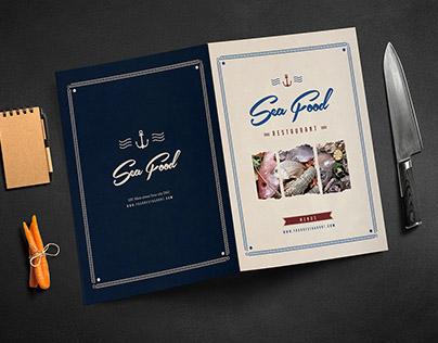 Rustic Sailor bifold food menus