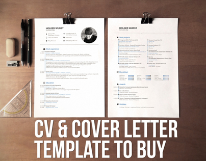 cv resume cover letter template psd ai on behance