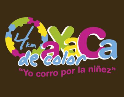 """Carrera 4km Oaxaca de color """"yo corro por la niñez"""""""