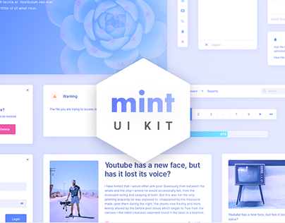 Mint - Free Sketch UI Kit