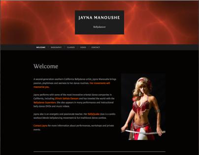 Jayna Manoushe, Bellydancer
