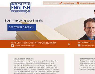 Improve Your English Website Mockup