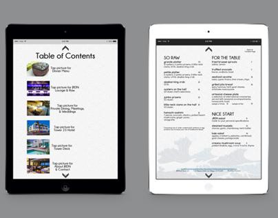 Digital Publishing for iPad app for Restaurant