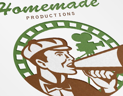 Homemade Productions Movie Camera Logo Template