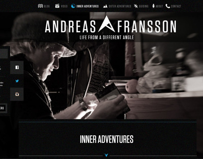 Blog Design for extreme skier Andreas Fransson