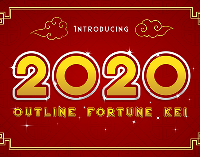 2020 Outline Fortune Kei font