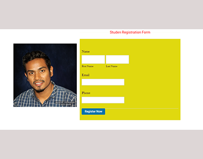 Student Registration Form with Gravity