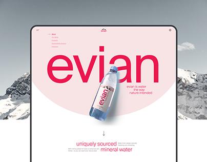 Evian website redesign