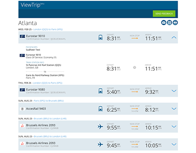 ViewTrip Itinerary Web App