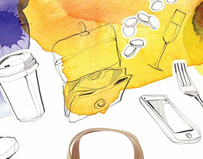 Artworks for the Samsonite Ladybag S/S Collection 2016