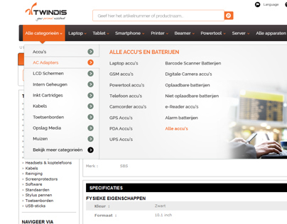 Twindis Website new Header and Navigation