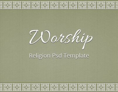Worship - Religion Free Psd Template