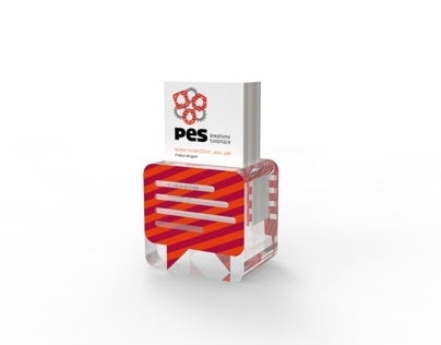 PES business card and brochure holder