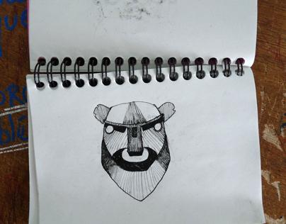 Carnet Croquis Masques / Sketchbook mask partern