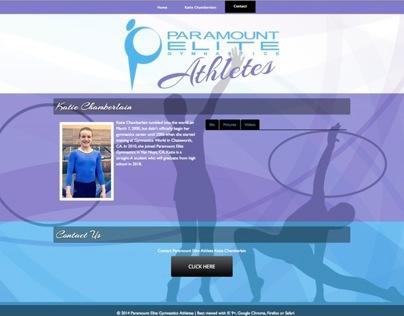 Paramount Elite Gymnastics JQuery One Page site