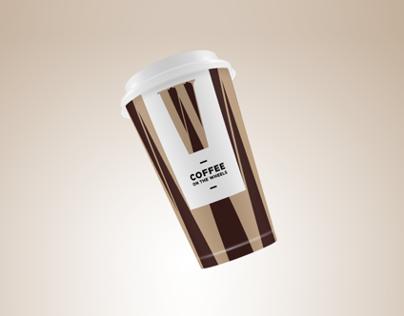 "Кофейня ""COFFEE ON THE WHEELS"", логотип & стаканчик"