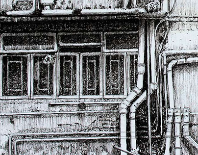 Old building drawing
