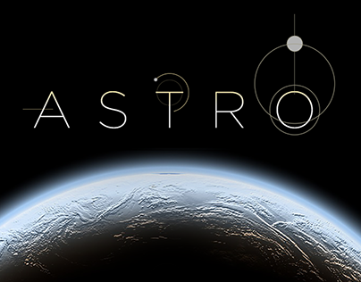 Landing page dedicated to astronomy