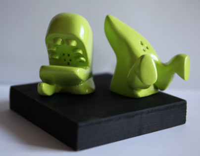 Extinction Salt and Pepper Shakers