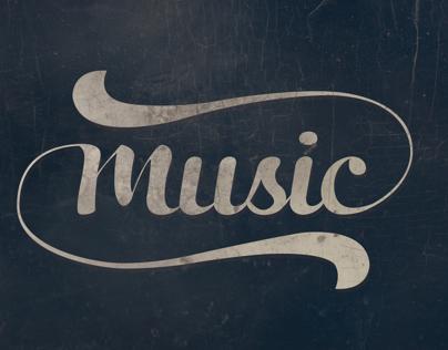 Music Custom Lettering