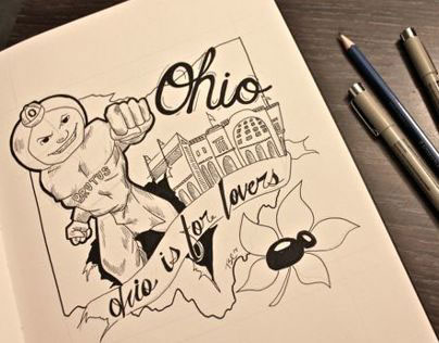 O-H-I-O [Hand Drawing]