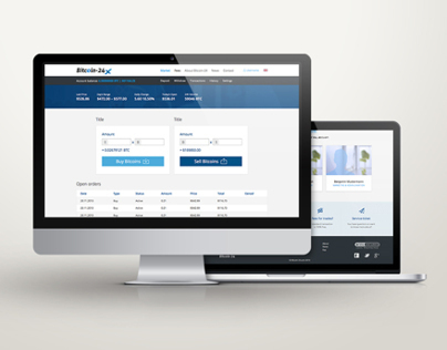 Bitcoin-24.com 2.0 Website Design