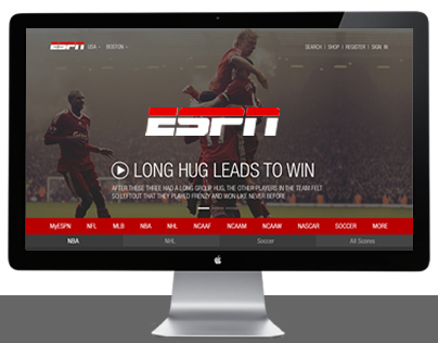 ESPN - Website Redesign