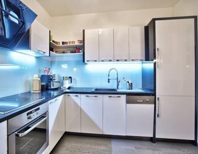 Kitchen Black and White high gloss