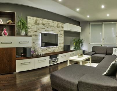 Living room Wenge / White / Vintage