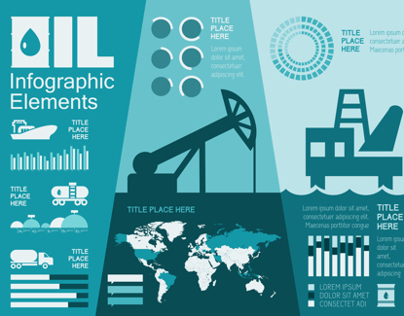 Petroleum Industry Infographics Elements