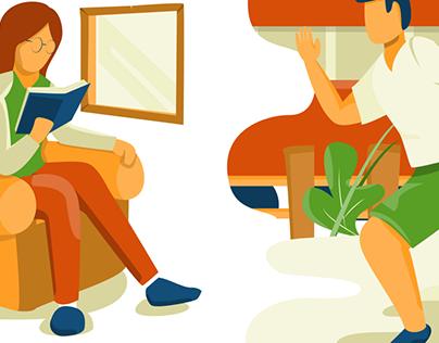 2020 Flat Illustrations for Website