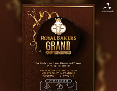 Royal Bakers Grand Opening Invitation